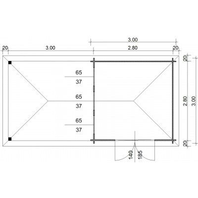 Bild 23 von Azalp Blockhaus Cas 590x300 cm, 30 mm