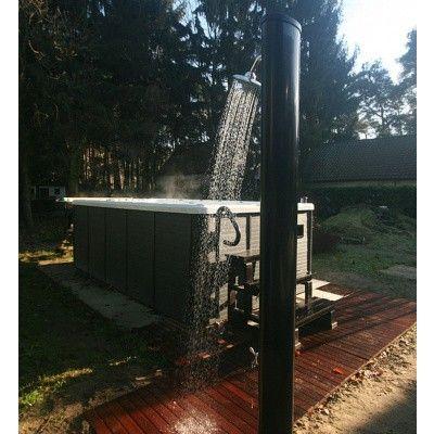 Afbeelding 3 van Azalp Solar douche recht model met voetdouche 35 liter