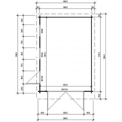 Afbeelding 2 van Azalp Garage Thijs 380x536 cm, 45 mm