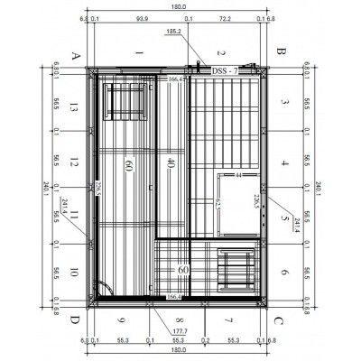 Afbeelding 43 van Azalp Massieve sauna Genio 180x240 cm, 45 mm