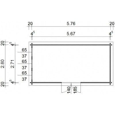 Bild 97 von Azalp Blockhaus Ingmar 596x300 cm, 45 mm