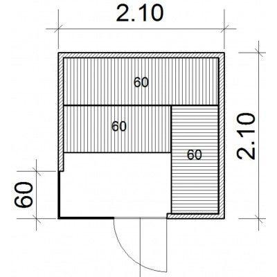 Afbeelding 34 van Azalp Sauna Luja 210x210 cm, 45 mm