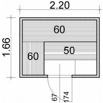 Afbeelding 43 van Azalp Massieve sauna Genio 220x166 cm, 45 mm