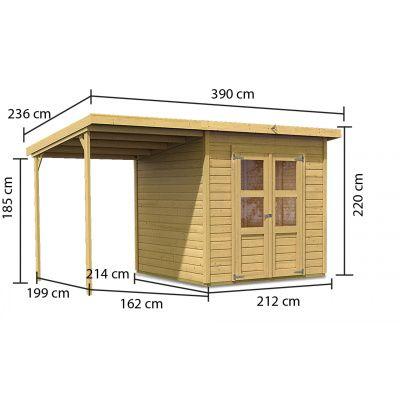 Afbeelding 4 van Karibu Merseburg 4 met veranda (68765)