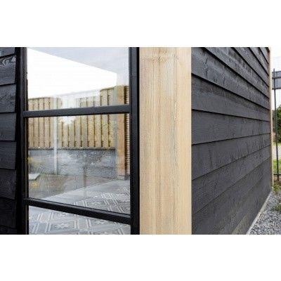 Afbeelding 6 van WoodAcademy Nefriet excellent Nero blokhut 780x400 cm