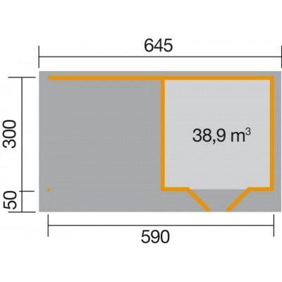 Afbeelding 2 van Weka Designhuis 126 B Gr.2, 590x300 cm grijs