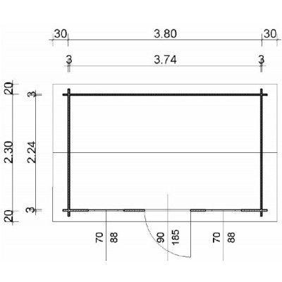 Bild 24 von Azalp Blockhaus Mona 400x250 cm, 30 mm