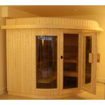 Bild 9 von Azalp Sauna Runda 203x237 cm, Fichte
