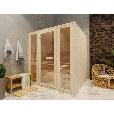 Afbeelding 2 van Azalp Massieve sauna Rio Optic 217x217 cm, 39 mm