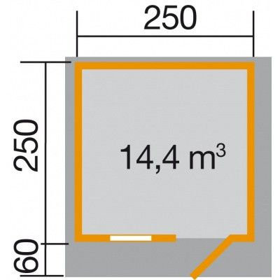 Afbeelding 2 van Weka Tuinhuis 131 Gr. 1 met Luifel 60cm