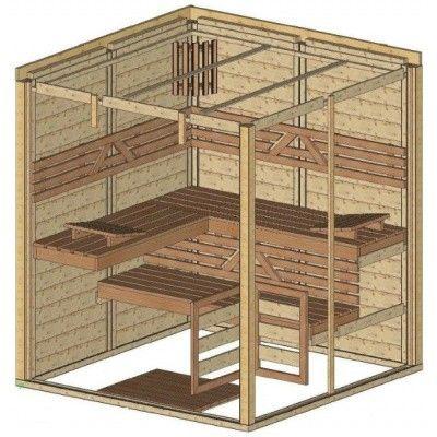 Afbeelding 48 van Azalp Massieve sauna Genio 180x180 cm, 45 mm
