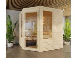 Foto von Azalp Eck-Massive Sauna Eva Optic