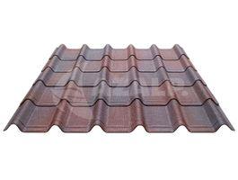 Foto von Onduline Onduvilla Komplettset für dieses Dach (rot)*