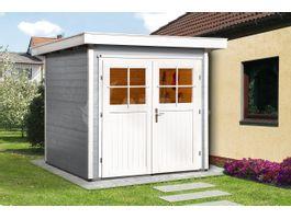 Foto von Weka Hölzernes Gartenhaus 227 Gr. 1 Anthrazit