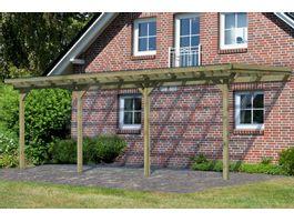 Foto von Karibu 64651 Eco Model 2 grote C Hölzernes Terrassenüberdachung - Hochdruck Imprägniert
