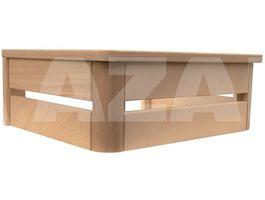Foto von Azalp Ofenschutz in U-Form Abachi 60x40 cm