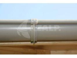 Foto von Azalp Dachrinnenset DELUXE Modernes 450 cm - grau