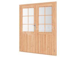 Foto van WoodAcademy Douglas dubbele deur met glas