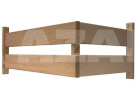 Foto van Azalp Ovenbeschermrek L-vorm Abachi 50x40 cm