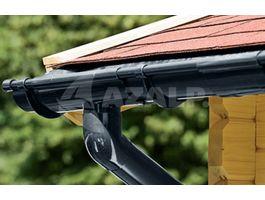 Foto von Azalp Dachrinnenset DELUXE Modernes 450 cm - schwarz