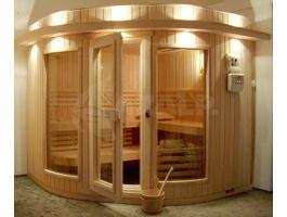 Foto von Azalp Sauna Runda 203x203 cm - Espenholz