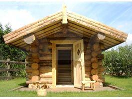Foto von Azalp Rundstamm Bauweise Saunahaus Sanda - Log