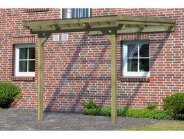 Foto von Karibu 64624 Eco Model 2 grote A Hölzernes Terrassenüberdachung - Hochdruck Imprägniert