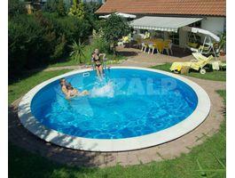 Foto von Trend Pool Beckenrandsteine Ibiza 400 weiß (für Rundbecken)
