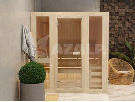 Foto van Azalp massieve sauna Rio Glass