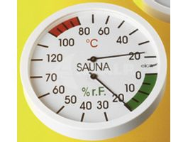 Foto van Hot Orange Thermo-hygrometer Wit
