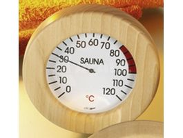 Foto van Hot Orange Thermometer Hout-Wit