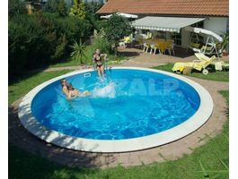 Foto von Trend Pool Beckenrandsteine Ibiza 500 weiß (für Rundbecken)