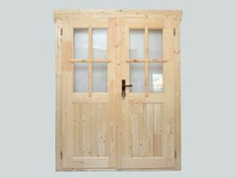Foto von Azalp Doppeltür mit Halb Glass (140x185 cm)