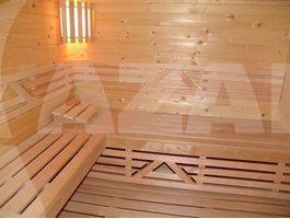 Foto von Azalp Sauna Zwischenbankverkleidung - Erle