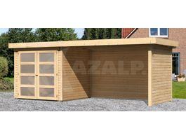 Foto van Woodfeeling Leuven 2 Blokhut met veranda 280cm
