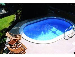 Foto von Trend Pool Beckenrandsteine Tahiti 490 x 300 weiß (für Ovalbecken)