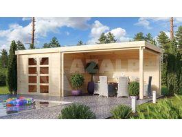 Foto van Debro Blokhut Angoisse met veranda - Hogedruk Geïmpregneerd
