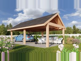 Foto von WoodAcademy Citrien Excellent Douglasie Überdachung 400x400 cm