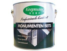 Foto van Koopmans Monumenten beits - Zwart - 2 -5L