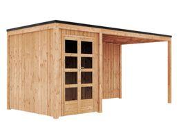 Foto van GrandiWood Miami Blokhut - Dubbele deur met luifel 450 cm
