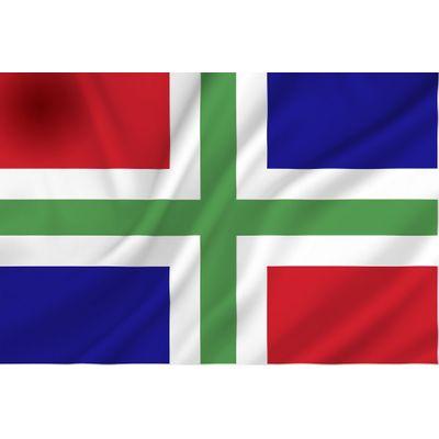 Foto van Groningen vlag