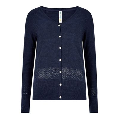 Foto van Weird Fish Curran Lightweight Slub Cardigan