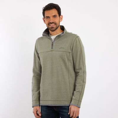 Foto van Weird Fish Kendall 1/4 zip safari