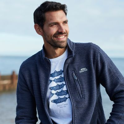Foto van Weird Fish Transom Full Zip Navy