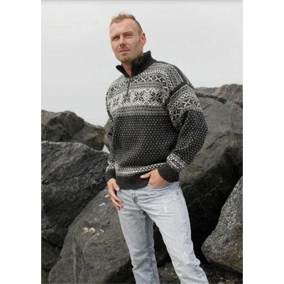Foto van Noorse trui ijssterren grijs