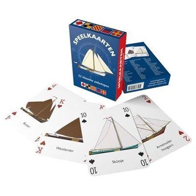 Foto van Speelkaarten klassieke zeilschepen