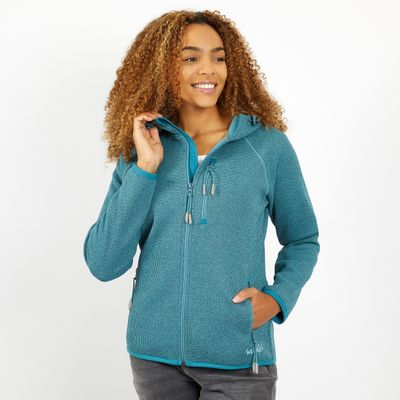 Foto van Weird Fish Becca Full Zip Hooded Fleece blauw