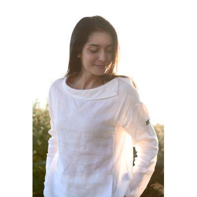 Foto van Mousqueton Odia linnen blouse wit