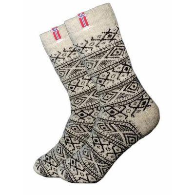 Foto van Noorse sokken grijs