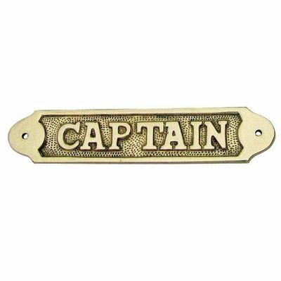 Naamplaat messing Captain